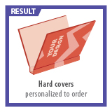 Hard Covers multiple coloured printed to order