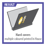 Hard Covers multiple coloured printed in House