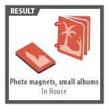 Photo magnets, mini photobooks