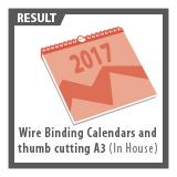 Wire binding callendars