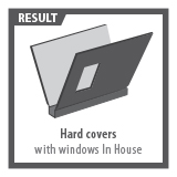 Hard Covers with window in house