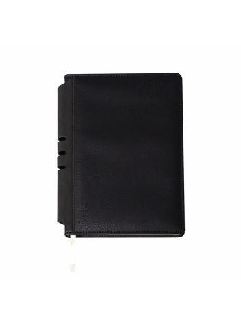 Kalendarz terminarz biurowy twardy z miejscem na długopis na rok 2022 - O.DIARY Jowisz - 211 x 156 (A5) - czarno-czarny