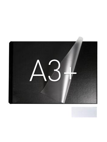 Okładka twarda z kieszenią laminacyjną - O.pouchCOVER Classic Duplex 304 x 423 mm (A3+ pozioma) - czarny - 10 par