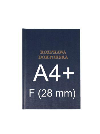 "Okładka twarda z napisem - O.HARD Classic F (28 mm) 304 x 212 mm (A4+ pionowa) ""Rozprawa Doktorska"" - niebieski - 10 sztuk"