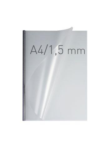 O.EASY COVER Double Semi Matt - (1,5 mm) - 297 x 210 mm (A4 pionowa) - srebrny - 50 sztuk