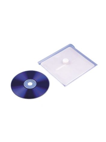 Samoprzylepne przezroczyste kieszonki z zamknięciem na płyty CD z rzepem - O.POCKET Sticky CD1 - 126 x 123 mm - 5 sztuk