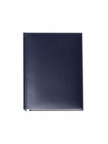 Kalendarz terminarz biurowy twardy na rok 2021 - O.DIARY Merkury - 211 x 145 mm (A5) - niebieski