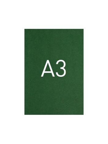 Okładka kartonowa o fakturze skóry - O.UNIVERSAL - 420 x 297 mm (A3) - 100 arkuszy - zielony