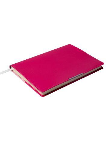Notes Notatnik biurowy miękki w kratę - O.NOTE Florida - 207 x 145 mm (A5) - różowy