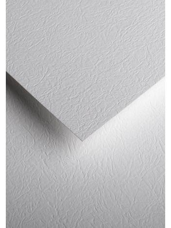 Wysokiej jakości papier ozdobny - O.Papiernia SKÓRA - 230 g/m² - biały - 20 sztuk