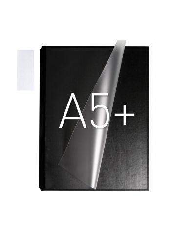 Okładka twarda z kieszenią laminacyjną - O.pouchCOVER Classic Duplex 217 x 151 mm (A5+ pionowa) - czarny - 10 par