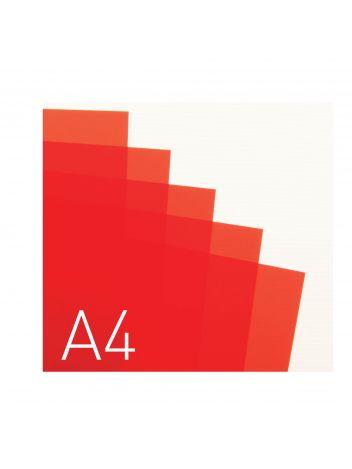 Przezroczysta okładka miękka - O.CLEAR STANDARD - 297 x 210 mm (A4) - 100 arkuszy - przezroczysty czerwony