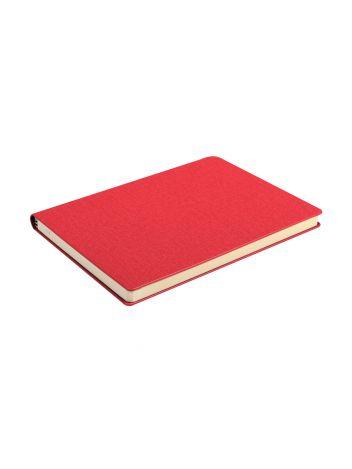 Notes Notatnik biurowy twardy w kratkę z miejscem na długopis - O.NOTE Copenhagen - 150 x 108 mm (A6) - czerwony