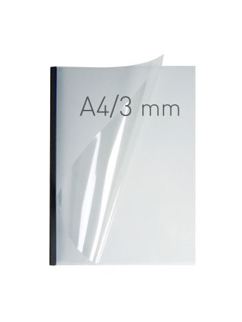 O.EASY COVER Double Clear - (3 mm) - 297 x 210 mm (A4 pionowa) - czarny - 40 sztuk