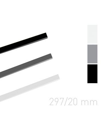 Kanał lakierowany - O.SIMPLE CHANNEL 297 mm (A3 poziomo, A4 pionowo) - 20 mm - czarny - 25 sztuk