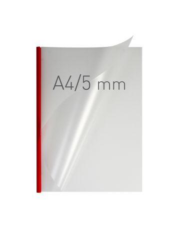 O.EASY COVER Double Semi Matt - (5 mm) - 297 x 210 mm (A4 pionowa) - czerwony - 40 sztuk
