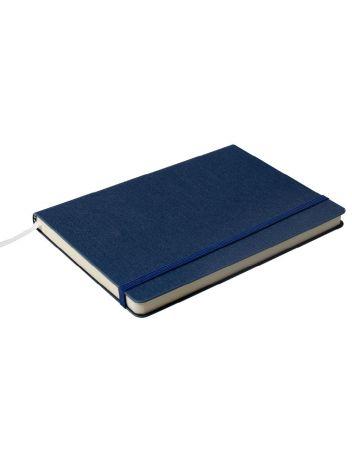Notes Notatnik biurowy twardy w linię zamykany na gumkę - O.NOTE Cairo - 207 x 145 mm (A5) - niebieski