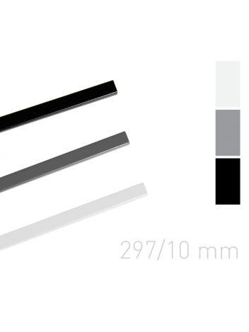 Kanał lakierowany - O.SIMPLE CHANNEL 297 mm (A3 poziomo, A4 pionowo) - 10 mm - czarny - 25 sztuk