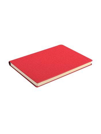 Notes Notatnik biurowy twardy w kratkę z miejscem na długopis - O.NOTE Copenhagen - 207 x 145 mm (A5) - czerwony