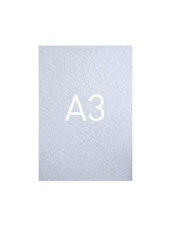 Okładka kartonowa o fakturze skóry - O.UNIVERSAL - 420 x 297 mm (A3) - 100 arkuszy - biały