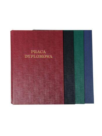 """Okładka twarda z napisem - O.HARD COVER Classic 304 x 212 mm (A4+ pionowa) """"Praca Dyplomowa"""" - czarny - 10 par"""