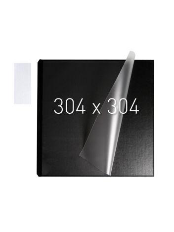 Okładka twarda z kieszenią laminacyjną - O.pouchCOVER Classic Duplex 304 x 304 mm (kwadratowa) - czarny - 10 par