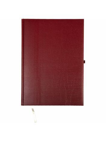 Kalendarz terminarz biurowy twardy z miejscem na długopis na rok 2022 - O.DIARY Neptun - 297 x 216 mm (A4) - bordowy