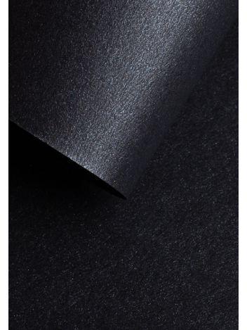 Wysokiej jakości papier ozdobny - O.Papiernia PERŁA - 250 g/m² - głęboki czarny - 20 sztuk