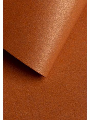 Wysokiej jakości papier ozdobny - O.Papiernia PERŁA - 250 g/m² - miedziany - 20 sztuk