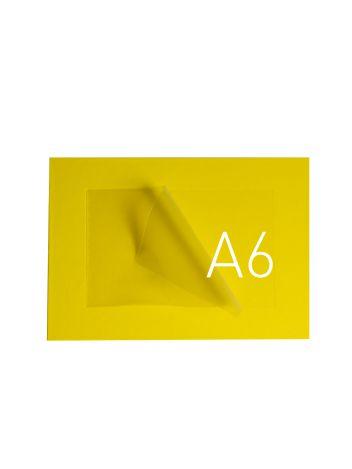 O.POUCH DISPLAY 165 x 211 mm (A6) - żółty - 20 sztuk