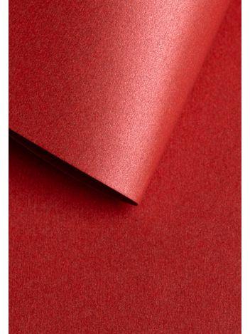 Wysokiej jakości papier ozdobny - O.Papiernia PERŁA - 250 g/m² - czerwony - 20 sztuk