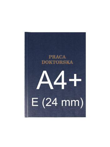 """Okładka twarda z napisem - O.HARD Classic E (24 mm) 304 x 212 mm (A4+ pionowa) """"Praca Doktorska"""" - niebieski - 10 sztuk"""