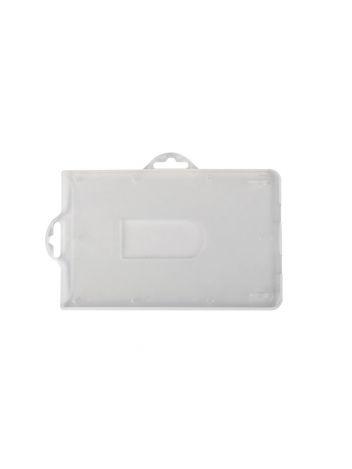 Identyfikator plastikowy twardy pionowy lub poziomy na karty plastikowe - O.BADGE HOLDER UNIVERSAL - 55 x 90 mm - 50 sztuk
