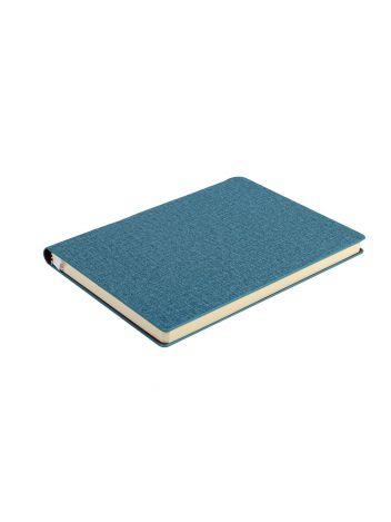 Notes Notatnik biurowy twardy w kratkę z miejscem na długopis - O.NOTE Copenhagen - 150 x 108 mm (A6) - turkusowy