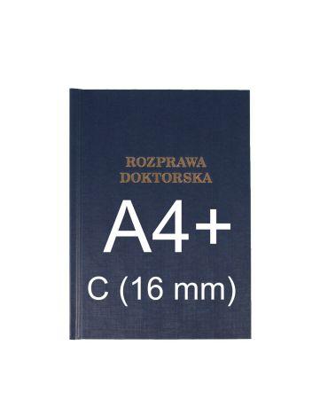 "Okładka twarda z napisem - O.HARD Classic C (16 mm) 304 x 212 mm (A4+ pionowa) ""Rozprawa Doktorska"" - niebieski - 10 sztuk"