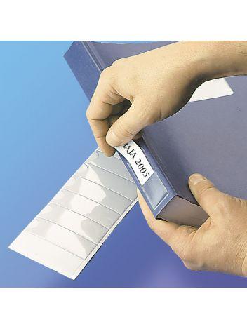 Samoprzylepne przezroczyste kieszonki na tytuły - O.POCKET Sticky - 25 x 75 mm - 24 sztuk