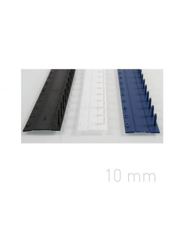Plastic binding strips - O.CLICK 10 mm - black - 50 pieces