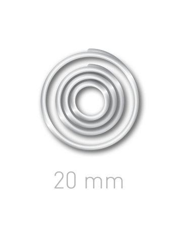Plastikowe kółeczka do ręcznego bindowania - O.easyRING 20 mm - przezroczysty - 160 sztuk