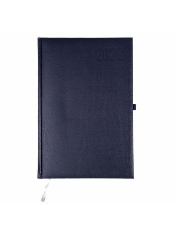 Kalendarz terminarz biurowy twardy z miejscem na długopis na rok 2022 - O.DIARY Wenus - 256 x 176 mm (B5) - niebieski