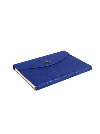 Notes Notatnik biurowy twardy w linię zamykany z miejscem na długopis - O.NOTE Paris - 207 x 145 mm (A5) - niebieski