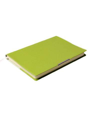 Notes Notatnik biurowy miękki w kratę - O.NOTE Florida - 207 x 145 mm (A5) - jasnozielony