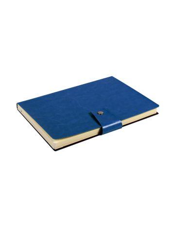 Notes Notatnik biurowy miękki w kratkę zamykany - O.NOTE Praha - 207 x 145 mm (A5) - granatowy