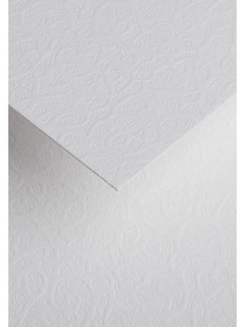 Wysokiej jakości papier ozdobny - O.Papiernia FLORA - 120 g/m² - biały - 50 sztuk