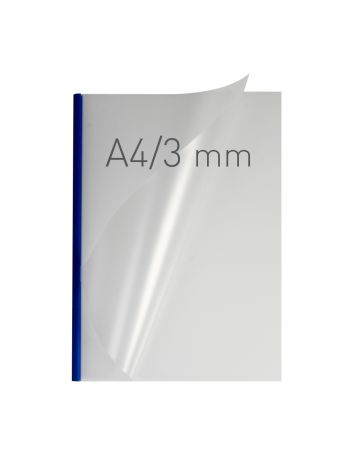 O.EASY COVER Double Semi Matt - (3 mm) - 297 x 210 mm (A4 pionowa) - niebieski - 40 sztuk