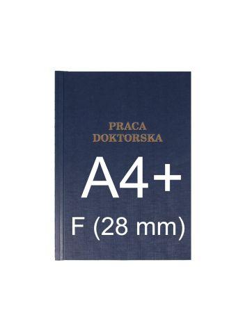 """Okładka twarda z napisem - O.HARD Classic F (28 mm) 304 x 212 mm (A4+ pionowa) """"Praca Doktorska"""" - niebieski - 10 sztuk"""