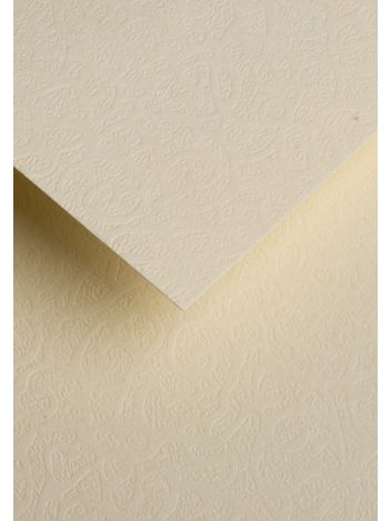 Wysokiej jakości papier ozdobny - O.Papiernia FLORA - 230 g/m² - kremowy - 20 sztuk