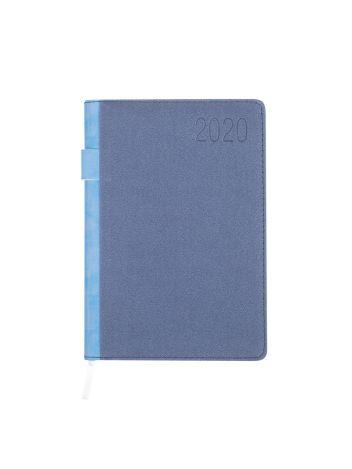 Kalendarz terminarz biurowy twardy z miejscem na długopis na rok 2020 - O.DIARY Mars - 207 x 145 mm (A5) - niebieski