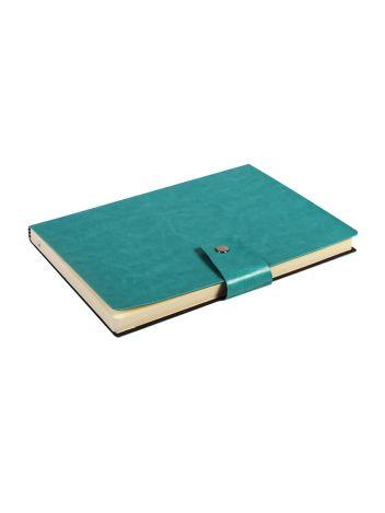 Notes Notatnik biurowy miękki gładki zamykany - O.NOTE Praha - 207 x 145 mm (A5) - zielony
