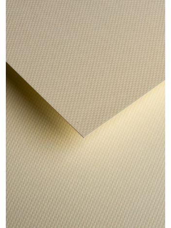 Wysokiej jakości papier ozdobny - O.Papiernia KROPKI - 230 g/m² - kremowy - 20 sztuk