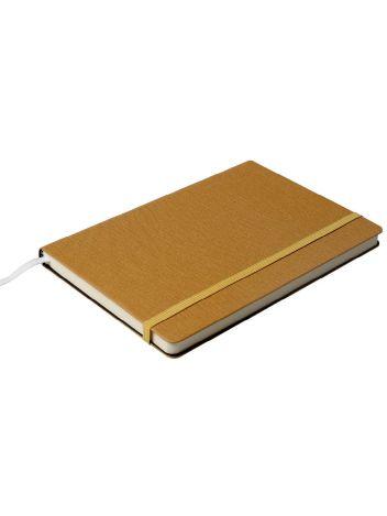 Notes Notatnik biurowy twardy w kratkę zamykany na gumkę - O.NOTE Cairo - 150 x 108 mm (A6) - piaskowy